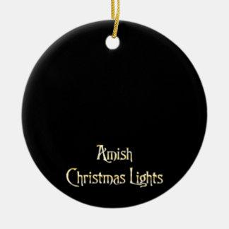 Amish Christmas Lights Ceramic Ornament