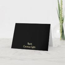 Amish Christmas Lights Holiday Card