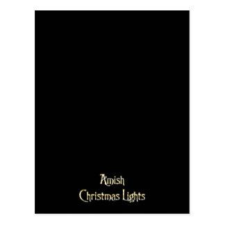 Amish Christmas Lights Postcard