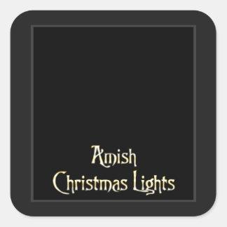 Amish Christmas Lights Sticker