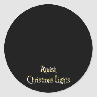 Amish Christmas Lights Stickers