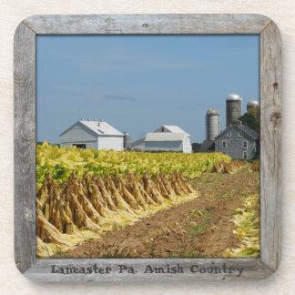 Amish Coasters! 6 Amish Tobacco Farm Lititz Pa. Drink Coaster