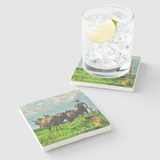 Amish Coasters, Amish Farmer and Horses! Stone Coaster