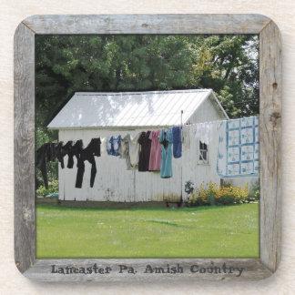 Amish Coasters! Amish Laundry Day! Set of 6 Drink Coaster