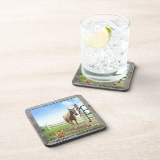 Amish Coasters, Cat and Horse! 6 Drink Coasters