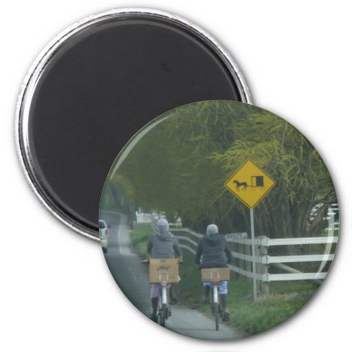 Amish Community 2 Inch Round Magnet