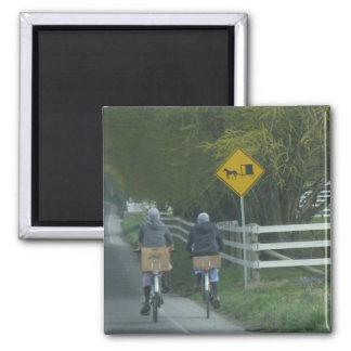 Amish Community 2 Inch Square Magnet
