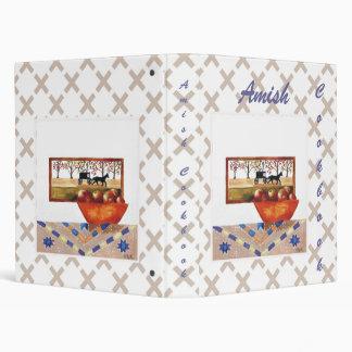 Amish Cookbook Vinyl Binders