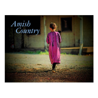 Amish Country Girl Postcard