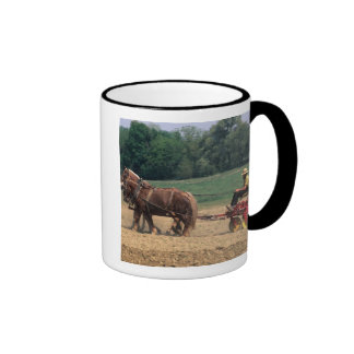 Amish Country simple people in farming with Ringer Coffee Mug