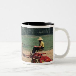 Amish Country simple people in farming with Two-Tone Coffee Mug