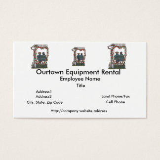 Amish Couple On Porch Swing Business Card