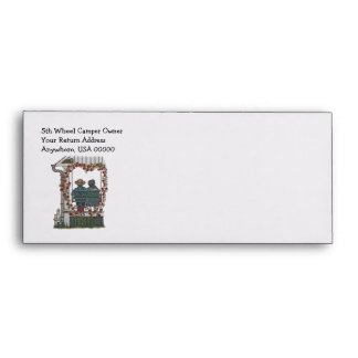 Amish Couple On Porch Swing Envelope