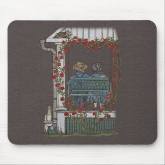 Amish Couple On Porch Swing Mouse Pad