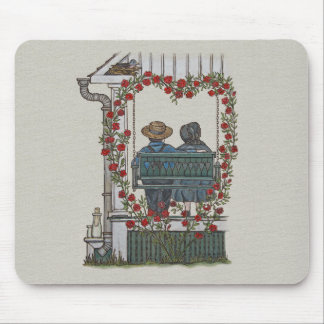 Amish Couple On Porch Swing Mousepads