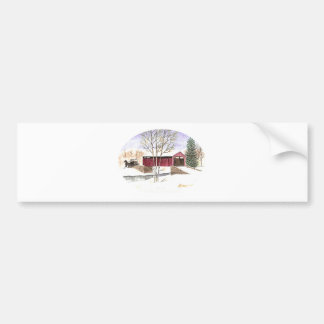 Amish Covered Bridge Bumper Sticker