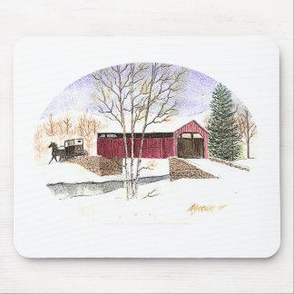 Amish Covered Bridge Mouse Pad