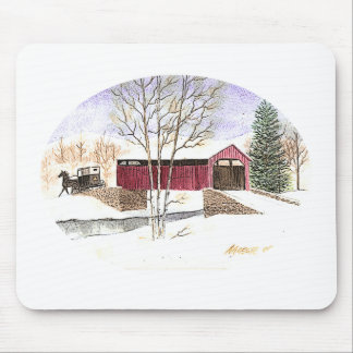 Amish Covered Bridge Mouse Pads