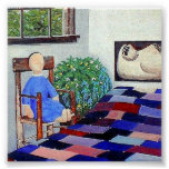 Amish Doll n' Patchwork Quilt Posters