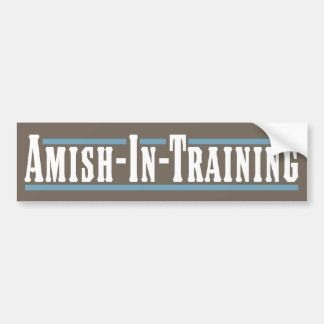 Amish-En-Entrenamiento Pegatina Para Auto