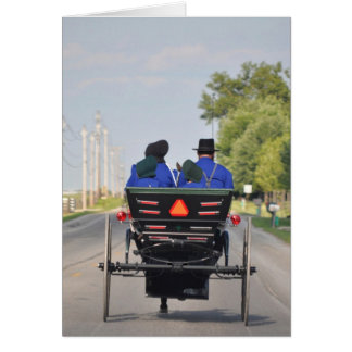 Amish Family Buggy Ride Card