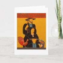 Amish Family Lancaster 1937 WPA Card