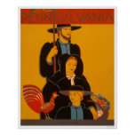 Amish Family Lancaster 1937 WPA Poster