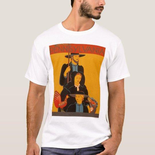 Amish Family Lancaster 1937 WPA T-Shirt