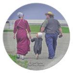 Amish Family Plates