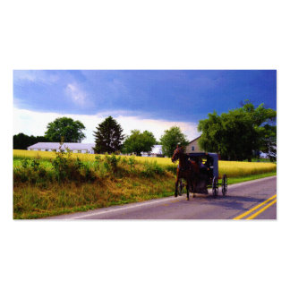 Amish Family Racing the Storm (simulated oil on ca Double-Sided Standard Business Cards (Pack Of 100)