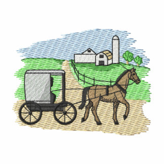 Amish Farm Embroidered Hoody