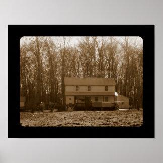 Amish Farm House Poster