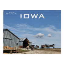 Amish Farm in Lamoni Iowa Postcard