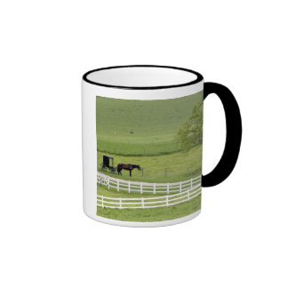 Amish farm with horse and buggy near Berlin, Ringer Coffee Mug