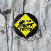 Amish For Trump Unique Collectible Political Pinback Button