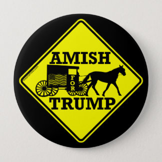 Amish For Trump Unique Collectible Political Pinback Button