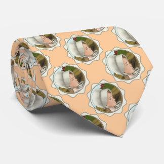 Amish Girl Bonnet custom name tie