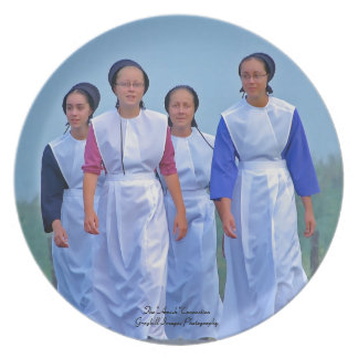Amish Girls Dinner Plates