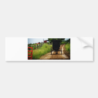 Amish Horse And Buggy Bumper Sticker