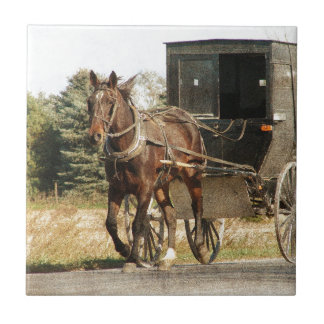 Amish Horse and Buggy Tile