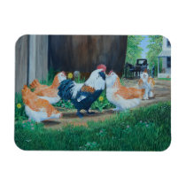 Amish horse/buggy and Salmon Favorelle chickens Magnet
