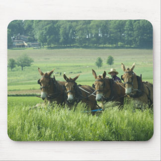 Amish Horse Drawn Plow Mouse Pad