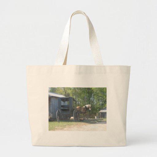 Amish Horse Jumbo Tote Bag