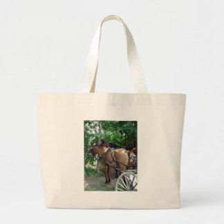 Amish Horses Canvas Bags