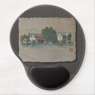 Amish House & Barn Gel Mouse Pad