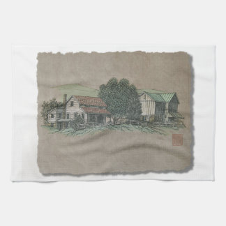 Amish House & Barn Kitchen Towel