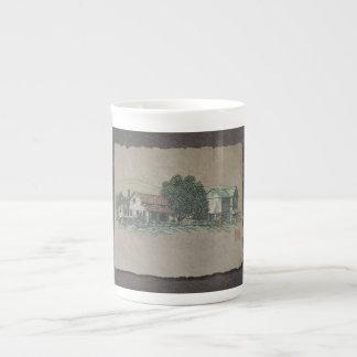Amish House & Barn Porcelain Mug