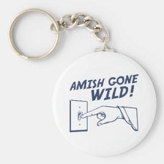 ¡Amish idos salvajes! Llavero Redondo Tipo Pin