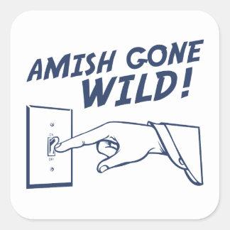 ¡Amish idos salvajes! Pegatina Cuadrada