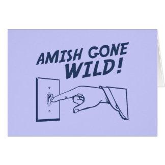 ¡Amish idos salvajes! Tarjeta De Felicitación